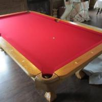 Pool Table and Rack