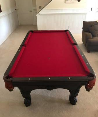 Highland Series Limited Edition Pool Table and Sticks