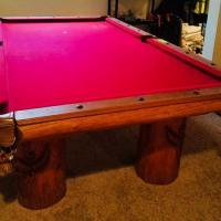 Custom Slate Top Pool Table