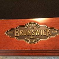 Brunswick 7' Greebrier Mahogany Pool Table