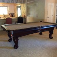 Light Brown Felt Pool Table In Great Condition